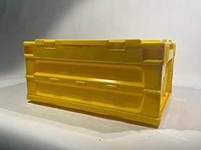 对折叠塑料周转箱进行实际的测算